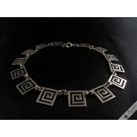 Vintage French Art Deco Silver Bracelet