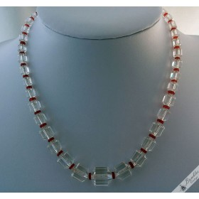 Vintage Czech Faceted Glass Chunky Choker Necklace