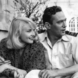 Diane Cilento with Peter Finch 1954