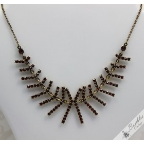 Striking Vintage Bohemian Garnet Statement Necklace c1960s