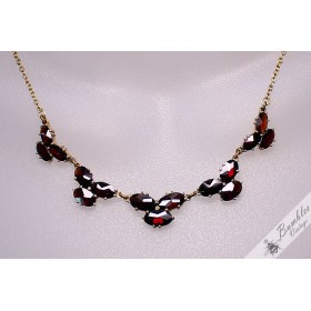 Unique Vintage Bohemian Garnet Necklace