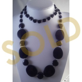 Vintage Huge Statement Retro Bead Necklace